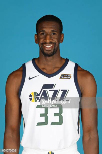 Ekpe Udoh of the Utah Jazz poses for a head shot during media day at Zions Bank Basketball Center on September 25 2017 in Salt Lake City Utah NOTE TO...