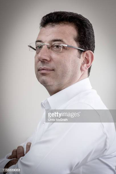 Ekrem Imamoglu CHP Party candidate for mayor of Istanbul poses for a portrait at his campaign office in the rerun of the Istanbul mayoral election on...