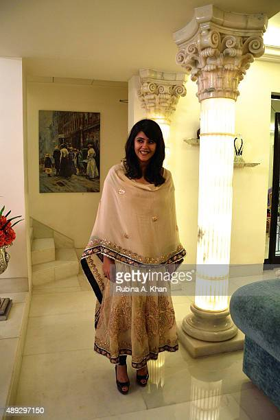 Ekta Kapoor at the celebratory Ganesh Chaturthi lunch hosted by her parents Jeetendra and Shobha Kapoor at their residence Krishna Bungalow on...