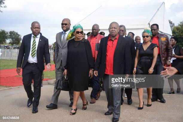 Ekurhuleni mayor Mzwandile Masina Minister Nathi MthethwaLimpho Hani Blade Nzimande and Lindiwe Hani during the 25 year anniversary commemorating...