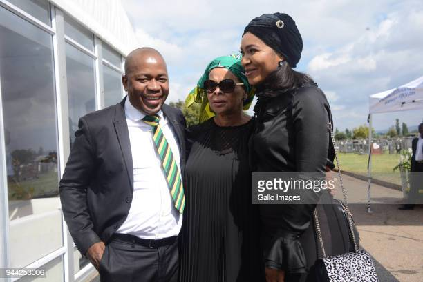 Ekurhuleni mayor Mzwandile MasinaLimpho Hani and Sinazo Masina during the 25 year anniversary commemorating Chris Hanis death on April 10 2018 in...