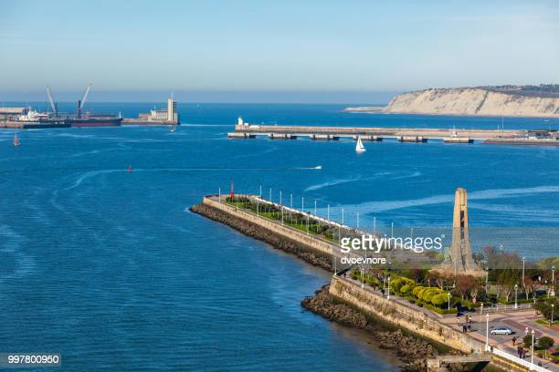 El Abra bay and Getxo pier and seafront, Spain