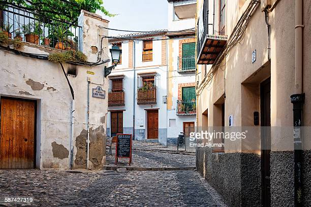 el albaicín, granada, spain - granada spain stock pictures, royalty-free photos & images