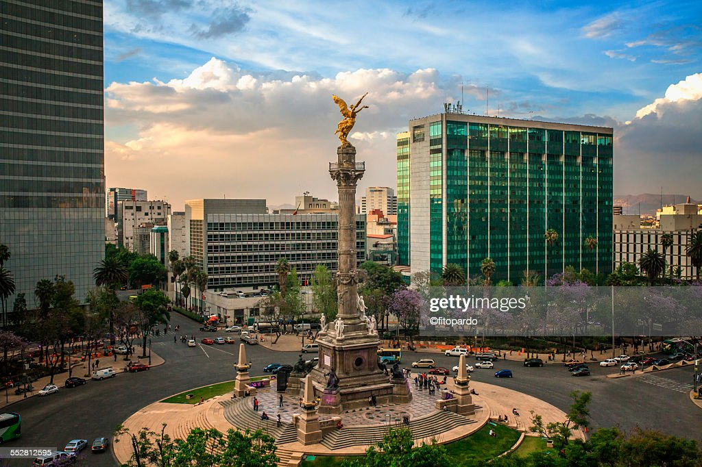 El angel de Independencia, mexican landmark : Stock Photo