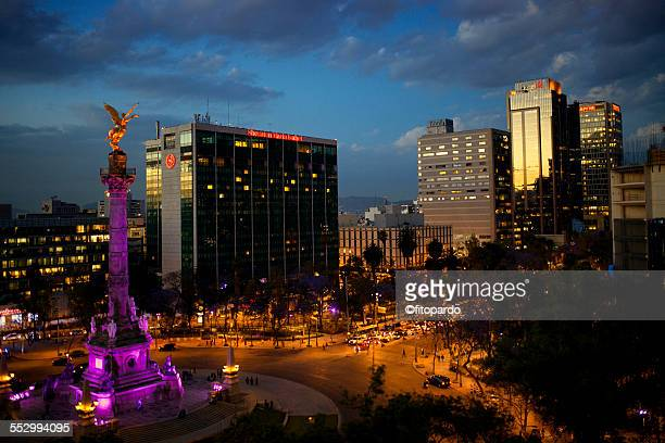 el angel de independencia, mexican landmark - mexico city stock pictures, royalty-free photos & images