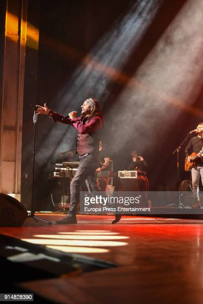 'El Arrebato' performs during his concert at Nuevo Teatro Alcala on February 5 2018 in Madrid Spain