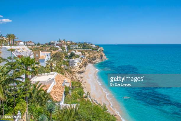 el asparallo beach in villajoyosa - valencia spain stock pictures, royalty-free photos & images