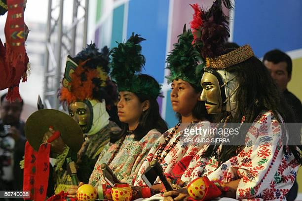 El ballet drama de origen prehispanico Rabinal Achi se presenta en la Plazuela Espana de Ciudad de Guatemala el 03 de febrero de 2006 Los relatos de...