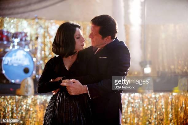"""El Beso de Judas"""" Episode 204 -- Pictured: Veronica Falcon as Camila, Joaquim de Almeida as Don Epifanio Vargas --"""
