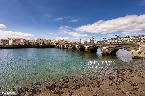 el burgo bridge - pontevedra province stock photos and pictures