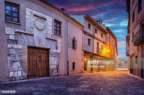 El Burgo de Osma, Ciudad de osma, Main Street, Soria province, Castilla Leon, Spain