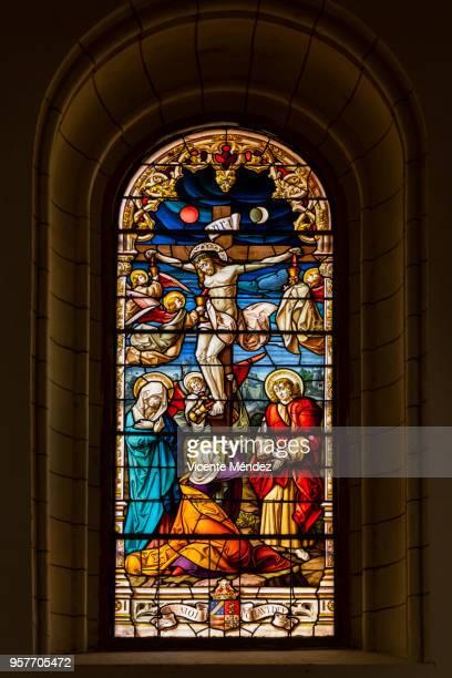 El Calvario - Vidriera de la Iglesia de San Jerónimo el Real (Los Jerónimos)