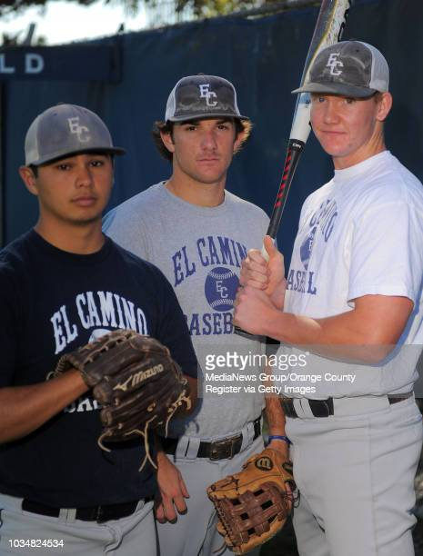 Scott Varley El Camino College baseball preview From left Andrew Pulido Chris Vopinek and Garrett Cooper