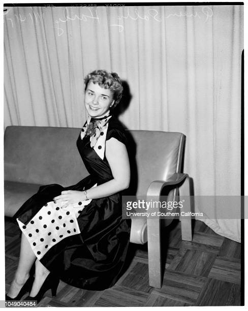 El Camino Junior College Queen 14 November 1952 Lois Weber 19 years Sally Hardy 18 yearsElaine Tillman Supplementary material reads ' Photographer...