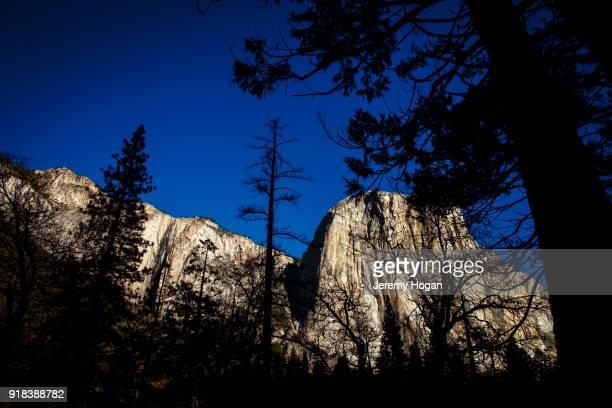 El Capitan in winter at at Yosemite National Park
