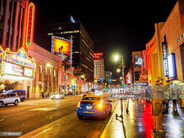 el capitan theater, hollywood boulevard - boulevard stock pictures, royalty-free photos & images
