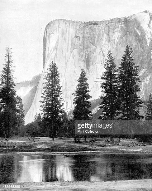 El Capitan Yosemite Valley California USA 1893 Illustration from Portfolio of Photographs of Famous Cities Scenes and Paintings