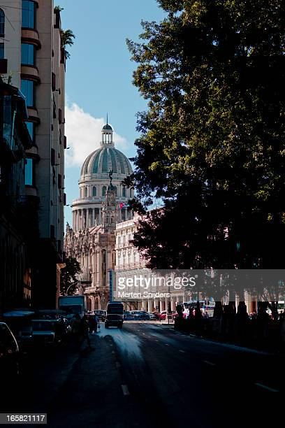 el capitolio from paseo del prado - merten snijders stock pictures, royalty-free photos & images