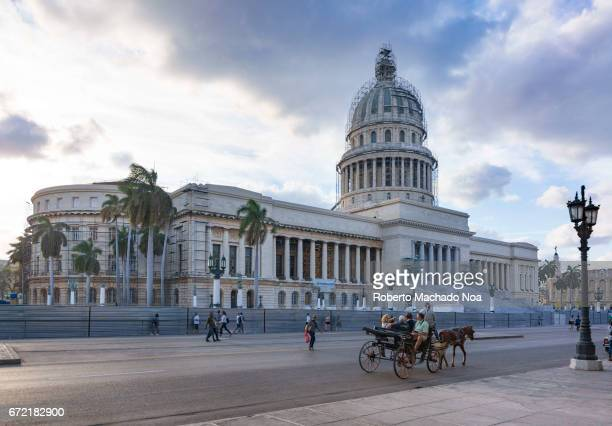 'El Capitolio' or Capitol Buiding is a major tourist attraction in the center of the Cuban capital city El Capitolio or National Capitol Building in...