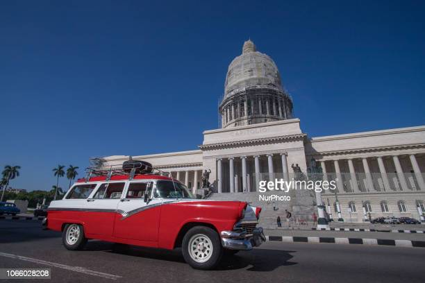 El Capitolio the National Capitol Building in Havana Cuba The building design is similar to United States Capitol It was completed in 1929 used to be...