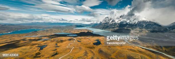 el chalten landscape in argentina - chalten stock pictures, royalty-free photos & images