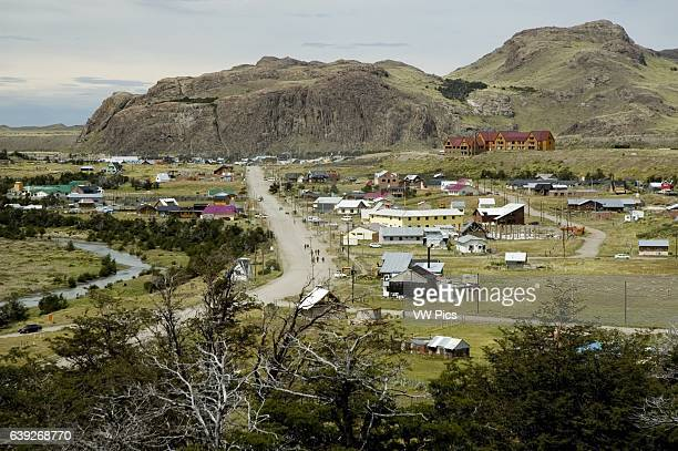El Chalten Village as seen from the trail to Mt Fitz Roy El Chalten was founded in 1985 and its main activity is tourism from around the world during...