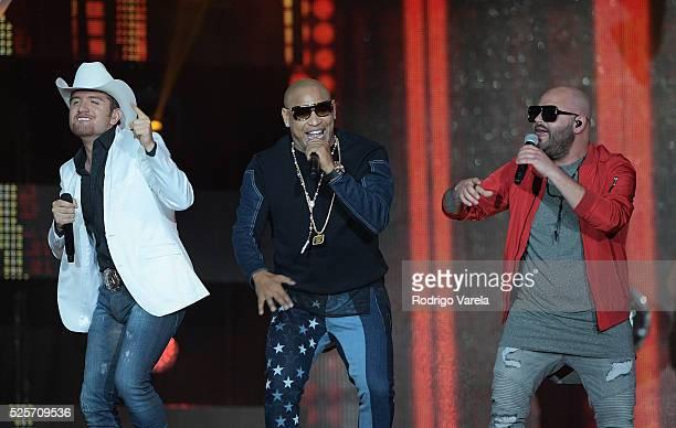 El Dasa Gente de Zona and Papayo perform onstage at the Billboard Latin Music Awards at Bank United Center on April 28 2016 in Miami Florida