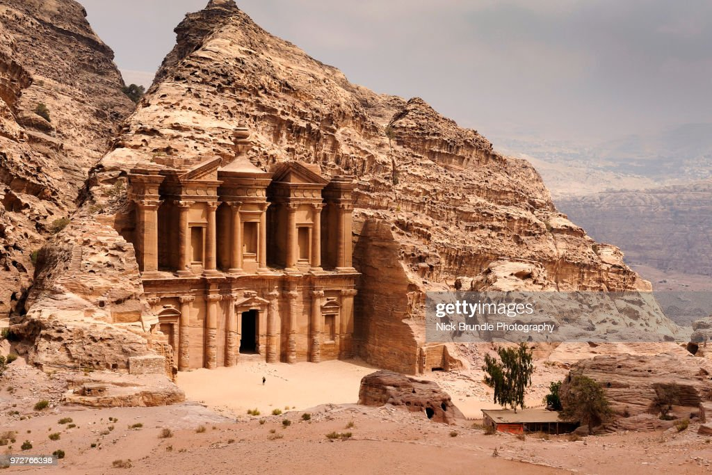 El Deir -  The Monastery, Petra, Jordan. : Stock Photo