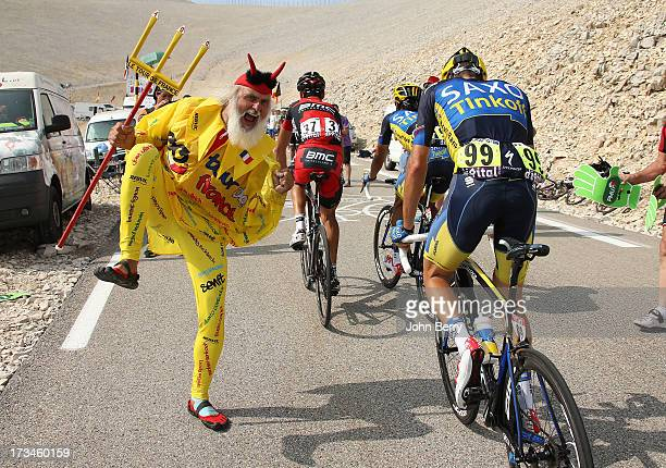 El diablo during stage fifteen of the 2013 Tour de France a 2425KM road stage from Givors to Mont Ventoux on July 14 2013 in Mont Ventoux France