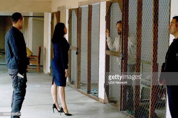 "El Diablo"" Episode 309 -- Pictured: Veronica Falcon as Camila, Ryan O'Nan as King George --"