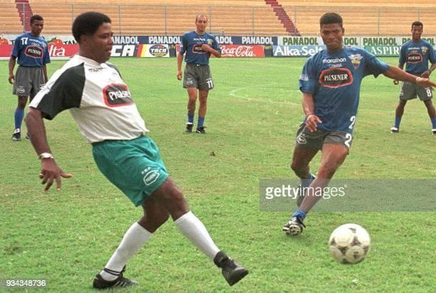 El entrenador de la seleccion nacional de Ecuador el colombiano Francisco 'pacho' Maturana participa 27 de Mayo junto a sus jugadores en un entreno...