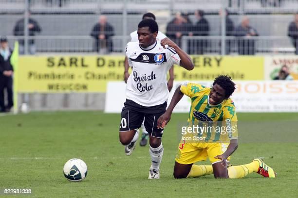 El Fardou Ben MOHAMED / Papy Mison DJILOBODJI Vannes / Nantes 23eme journee de Ligue 2 Vannes