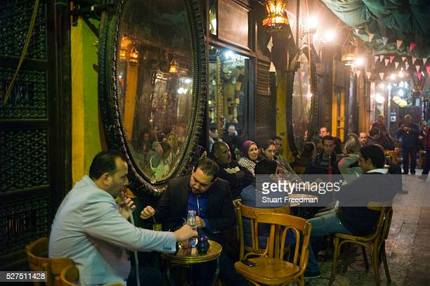 El Fishawi's Coffee house in Khan alKhalili Cairo Egypt
