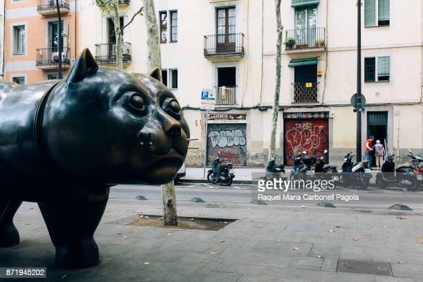 El gat del Raval or the Raval cat sculpture by Fernando Botero