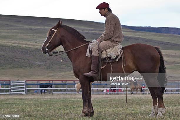 El Gaucho pauses before a Rodeo in Cerro Castillo, Chile.