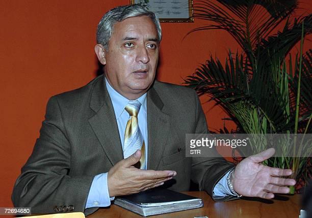 El general Otto Perez Molina precandidato presidencial de Guatemala mantiene una entrevista con la AFP el 30 de noviembre de 2006 Conocido como el...