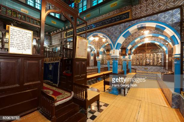 el ghriba synagogue, praying chamber - djerba stock pictures, royalty-free photos & images