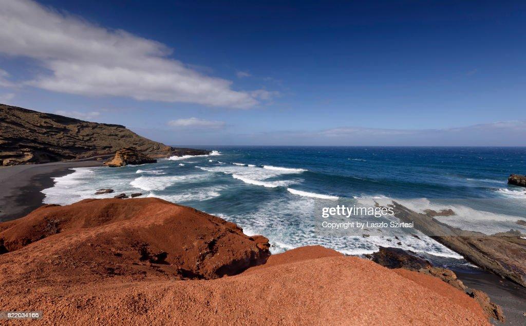 El Golfo in Lanzarote : Stock Photo