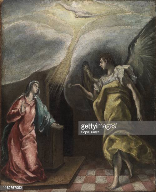 Annunciation El Greco Possibly 17th century Oil on canvas This painting depicts the Annunciation a popular subject for Renaissance artists when the...