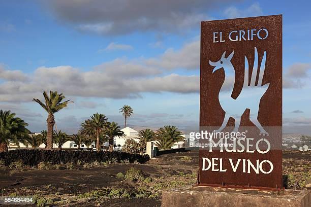 El Grifo Wine Museum, and Bodega Winery, La Geria region of Lanzarote, Canary islands, canaries, spain.