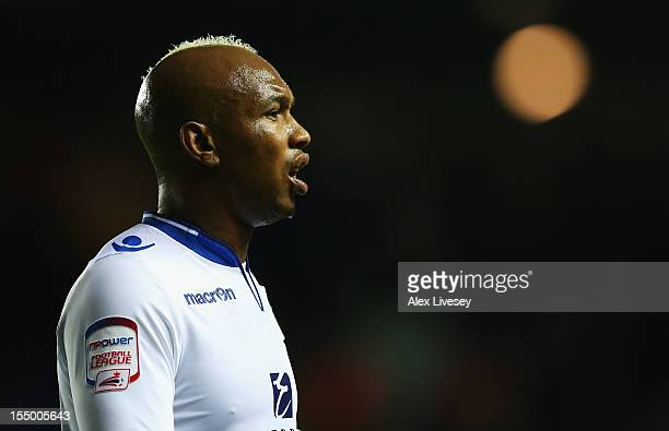 El Hadji Diouf of Leeds United looks on during the Capital One Cup Fourth Round match between Leeds United and Southampton at Elland Road on October...