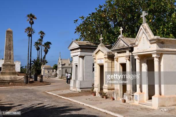 El Hank cemetery in ancient french quarter in Casablanca on June 22, 2019 in Casablanca, Morocco.