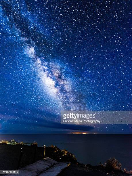 El Hierro Island and Milky way