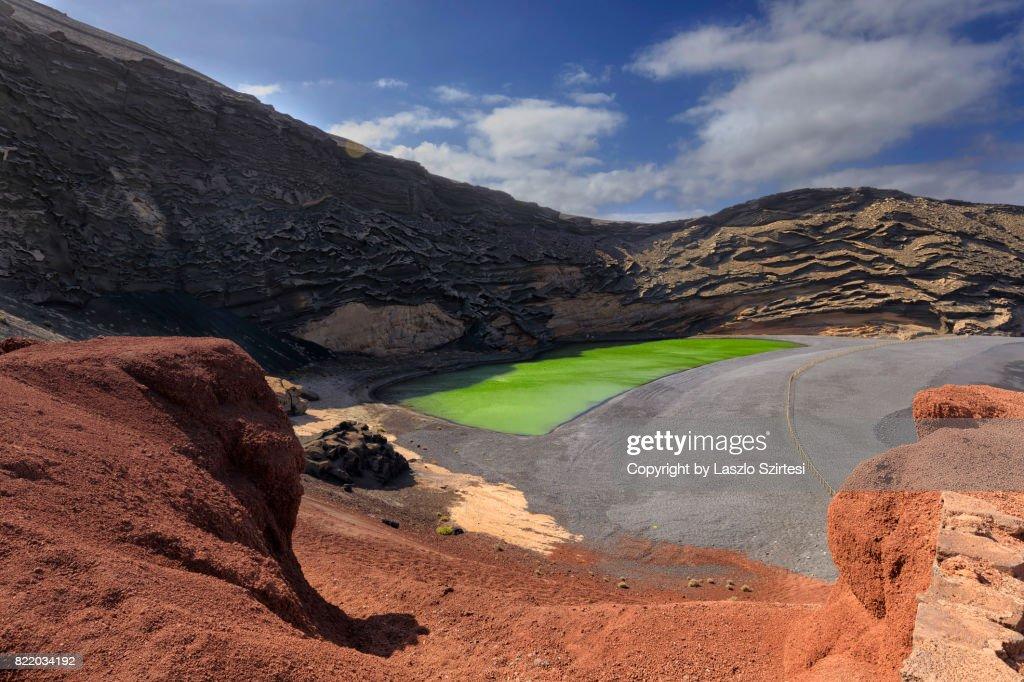 El Lago Verde in Lanzarote : Stock Photo
