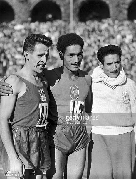 El Mabrouk And Alain Mimoun In 1950'S France