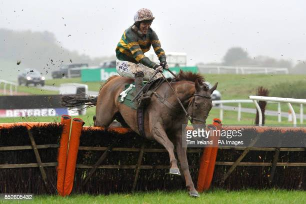 El Macca ridden by Tony McCoy during the RABI Gateway Project Maiden Hurdle Race at Chepstow Racecourse Monmouthshire