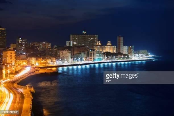 El Malecon, at Night, Havana, Cuba