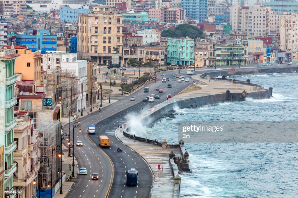 El Malecon, Havana, Cuba : Stock Photo