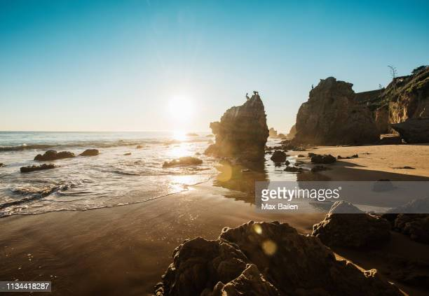 el matador beach, malibu, california, usa - malibu beach stock pictures, royalty-free photos & images