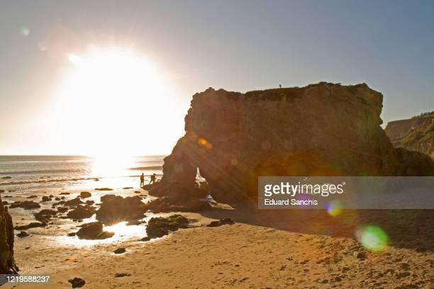 el matador beach - malibu beach stock pictures, royalty-free photos & images
